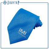 Diseño de Moda Color sólido100% seda Corbata de logotipo personalizado