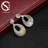 Er00023 중국 공급자 보석 아름다움 타원형 지르콘 Earrrings