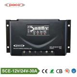 Sistema solar 12V/24V DC PWM Controlador de carga del motor solar