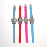Het Materiële Horloge van het silicium met Horloge van de Armband van de Kleding van de Pols van het Plastic Geval het Digitale voor Jonge geitjes