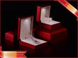Rote Ring-Kästen der Schmucksache-Verpackungs-Kasten-LED