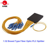 Tipo encajonado divisor óptico del PLC de fibra