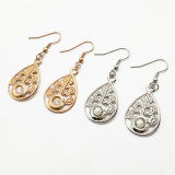 La decoración de moda regalos pendientes de acero inoxidable Juego de joyas de plata