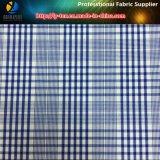 青か白いポリエステルヤーンの染められた小切手の伸張のワイシャツファブリック