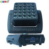 Gbr-Wl2541 25X10W RGBW 4в1 светодиодные панели Magic перемещение светового пучка света