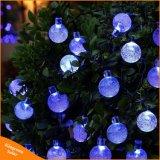 Solarzeichenkette-Lichter der Luftblasen-30LEDs für Garten-Weihnachtshochzeits-Dekoration