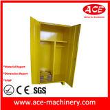 Het gele Kabinet van het Metaal van het Blad van de Kleur Plastic Schilderende