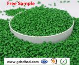 Grüne Farbe Masterbatch mit 10% dem Titandioxid