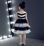 Платье партии детей черноты длины колена белое