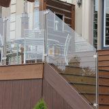 Appartement escalier de verre Verre Post balustrade clôture en acier