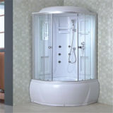 Piccolo prezzo di vetro rotondo del cubicolo dell'acquazzone del vapore della baracca del cassetto profondo
