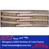 Латунные медного провода деревянные ручки щетки 245мм