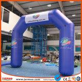 6x4m arch pour la promotion de la publicité gonflable
