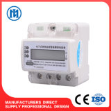 Счетчик энергии рельса цифров DIN одиночной фазы франтовской, электрический счетчик Kwh индикации LED/LCD