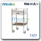 Aço inoxidável ajustável Mayo médicos do Hospital de mesa Carrinho de operação do instrumento