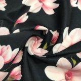 Напечатанная помытая ткань кожи персика бархата для платья одежды