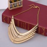 重い金の金属のマルチ層の月の円の首の鎖、円形のリングのネックレス