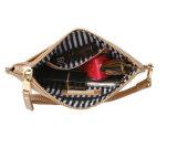 Comercio al por mayor de oro por la noche personalizada sobre señoras monederos bolsas de embrague, una pequeña parte de la moda de cuero de PU Plain la bolsa de cosméticos para mujeres