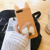 iPhone 7/7plus/8/8plus를 위한 새로운 3D 귀여운 항문 견면 벨벳 전화 상자