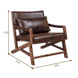 Poltrona di cuoio squisita della mobilia del randello del caffè (JX-009)