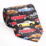Cravate estampée par fantaisie faite sur commande de polyester de soie de 100% (NT-017)