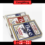 Cartão de jogo dedicado abelha do póquer do casino de Estados Unidos para jogos de jogo do casino com cor vermelha e azul (YM-PC01)