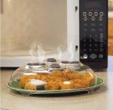 Крышка Анти--Sputtering Hover микроволны предохранителя Splatter еды с паром вентилирует 4 магнита