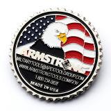 Mayorista de alimentación de la fábrica americana de souvenirs personalizados Metal militar águila de plata monedas