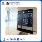 Muestra de aluminio vertical al aire libre modificada para requisitos particulares para los postes indicadores de la estación