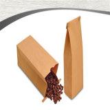 Bolsa de papel que se puede volver a sellar de Kraft del alimento de los escudetes impresa
