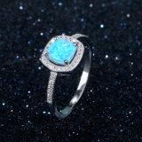 中国の宝石類の工場販売の直接シンプルな設計のオパール925の銀製のリングの宝石類(557598561897)