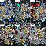 Lookathot 1 boîte 3D ongle Rhinestone Crystal Ab Diamond irisé perles Bijoux métalliques Gold Gems Flatback, des pierres Nail Art (EN001)