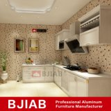 Teck Rouge et du chêne blanc Accueil mobilier métallique moderne des armoires de cuisine en aluminium