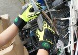 Безопасности из натуральной кожи Anti-Abrasion Impact-Resistant рабочие перчатки с TPR