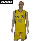 Uniformi su ordinazione di pallacanestro di sublimazione per la squadra