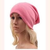 Jersey de coton doux sommeil unisexe Cap Slouchy Knit Beanie Hat surdimensionné