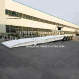 4 assen Semi Aanhangwagen van Loder Lowbed van het Graafwerktuig van 100 Ton de Lage