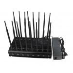 42W 16 antena 2g, 3G, 4G, GPS, WiFi, VHF, freqüência ultraelevada, 315, 433, jammer do sinal de Lojack