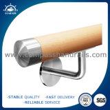 La moda de cristal de estilo moderno de acero inoxidable Baranda escalera de madera
