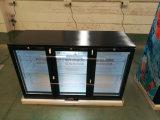 Rückseitige Stab-Bildschirmanzeige-Kühlvorrichtung mit Glastür/unter Stab-Getränk gekühltem Kühler