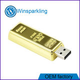 Memoria dell'azionamento dell'istantaneo del USB della barra di oro per promozionale