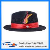 Populärer Wolle-Filzfedora-Mann-Hut für Großbritannien