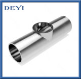 Het sanitaire Opgepoetste T-stuk van het T-stuk van het Roestvrij staal SS304 Gelijke Spiegel (dEYI-T-stuk 01)