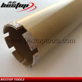 Morceaux de foret concrets soudés par laser de faisceau de diamant pour le béton armé