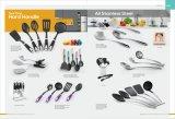 スープ用お玉のスプーンのターナーのパスタサーバーまたはスキマーのフォークのための台所ツール