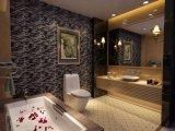 Mattonelle di mosaico di cristallo di colore in bianco e nero caldo di vendita per la decorazione