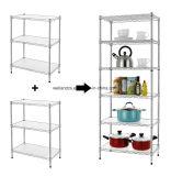 Устроитель блока Shelving шкафа хранения крытого провода кладовки кухни обязанности 6 ярусов светлого регулируемого стальной