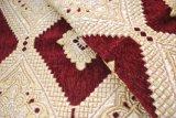 빨간색에 의하여 고아한 중동 작풍 셔닐 실 소파 직물