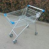 Matériau en acier et caddie électrique se pliant de supermarché de type avec la portée
