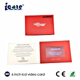 Folheto video o mais novo personalizado 6 polegadas do cartão video do LCD para o cumprimento/negócio/convite